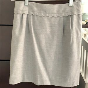 Gray J.Crew skirt.